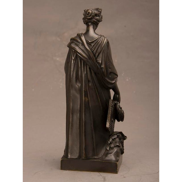 19th Century French Bronze Roman Goddess Sculpture of Tyche For Sale - Image 4 of 6