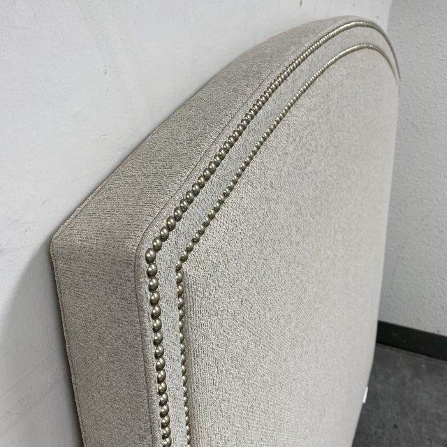 Metal Queen Size Lee Industries Arch Headboard For Sale - Image 7 of 13
