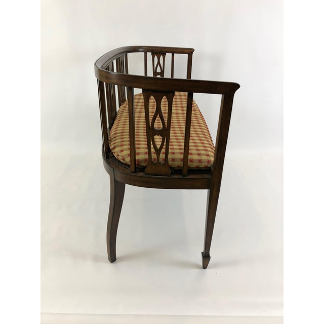 American Italian Curved Fruitwood Loveseat Settee For Sale - Image 3 of 11