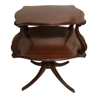 English Regency Style Mahogany Two Tier Side Table For Sale