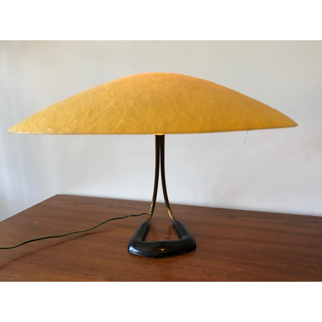 1950s 1950s Carl Aubock Table Lamp With Fiberglass Shade For Sale - Image 5 of 10
