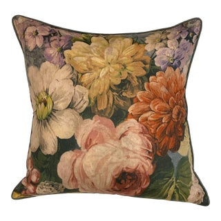 Travers Greensward Bouquet Pillow For Sale