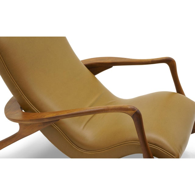 Vladimir Kagan Contour Rocker with Ottoman, Holly Hunt Leather, Excellent - Image 3 of 11