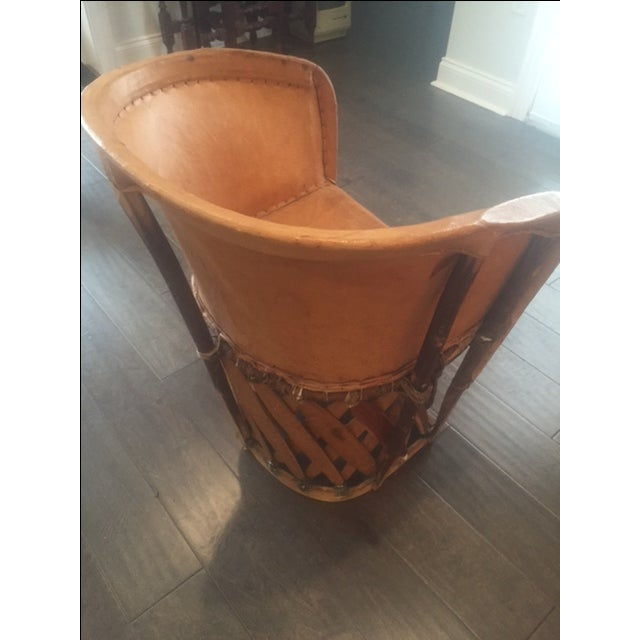 Tan Mexican Equipale Chair For Sale - Image 8 of 11