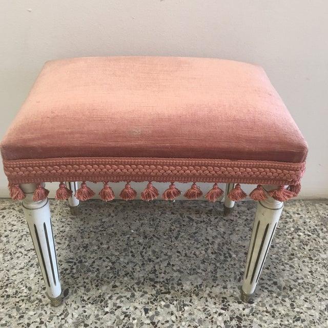 Jansen Style Rusty Pink Footstool - Image 2 of 8