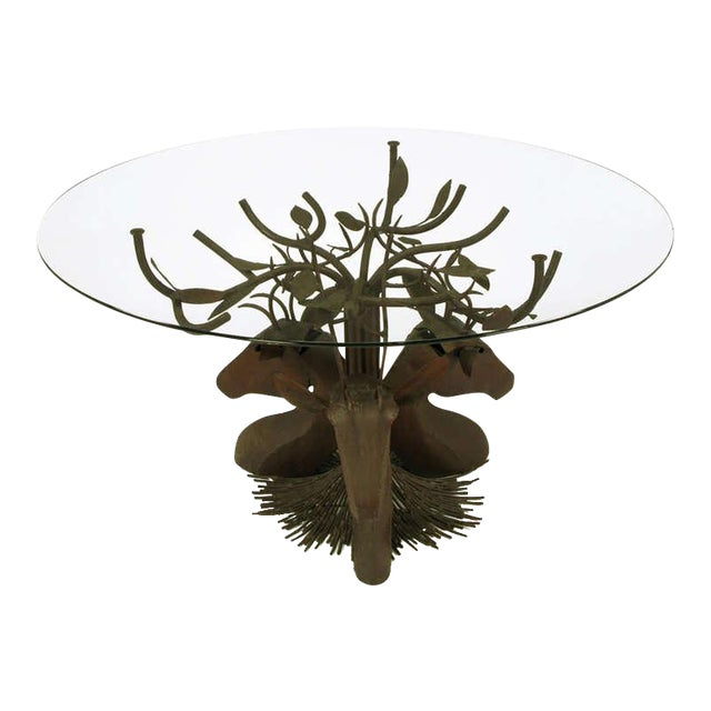 Studio Steel Sculpture Deer Trio Dining Table - Image 1 of 4