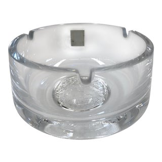 Vintage German Crystal Hand-Blown Ashtray For Sale