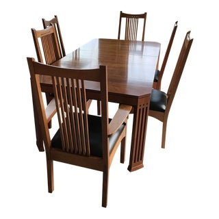 Mission Stickley Cherry Dining Set - 7 Pieces For Sale