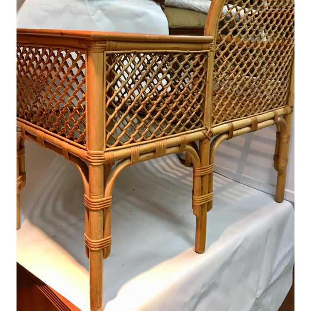 Wicker and Bamboo Chair & Table For Sale - Image 11 of 12
