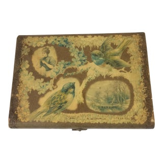 Antique 1870's Victorian Jewelry Bird Box For Sale