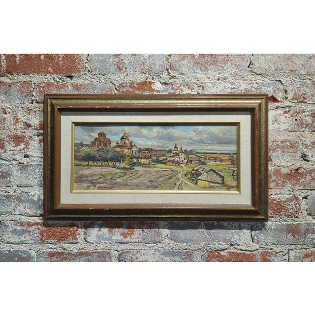 Tatyana Radimova -Khotkovo Village Landscape-1968 Russian Oil Painting For Sale - Image 10 of 10
