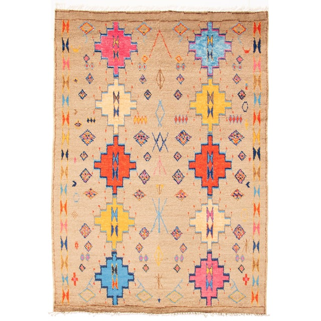 """Moroccan-Style Hand-Knotted Rug-8'10"""" X 12'3"""" For Sale - Image 9 of 9"""