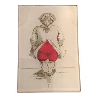 John Derain Englishman Plate, Signed For Sale