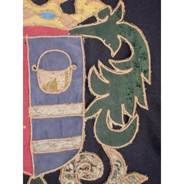 This is a Marquee Coat of Arms as the crown shows from Italie From the 1800 hundreds , embroidered with multiple styles of...