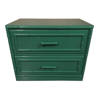 Dixie Furniture Lacquered Faux Bamboo Chest