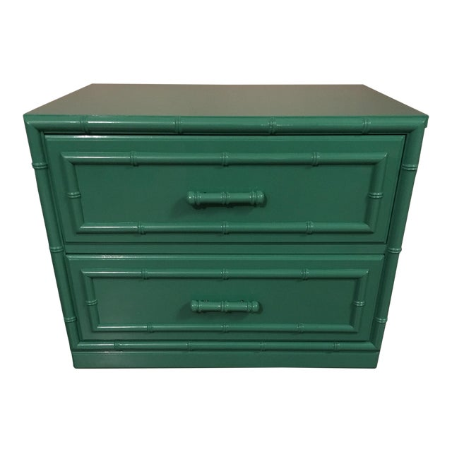 Dixie Furniture Lacquered Faux Bamboo Chest - Image 1 of 7