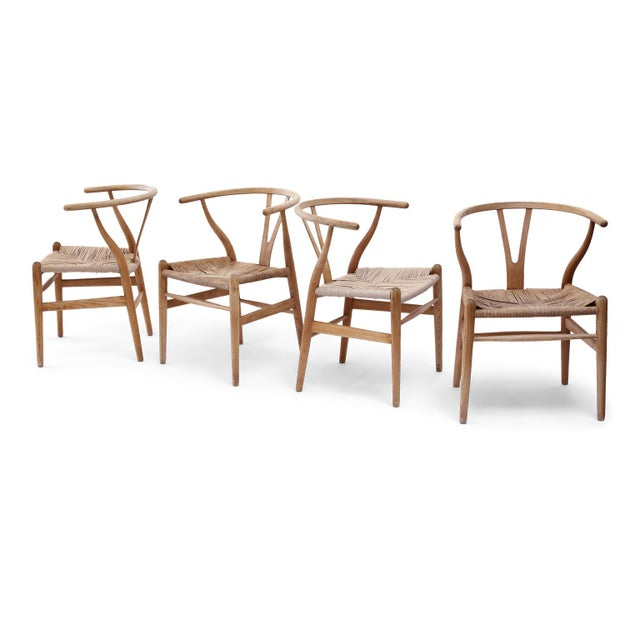 Wishbone Armchairs by Hans Wegner For Sale - Image 13 of 13
