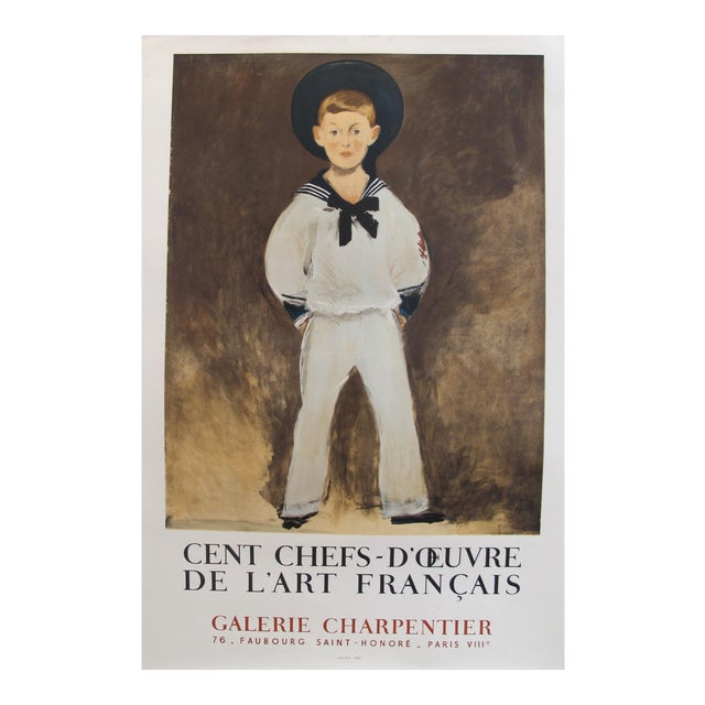 1961 Original French Exhibition Poster - Cent Chefs-d'Oeuvre De l'Art Français - Galerie Charpentier For Sale