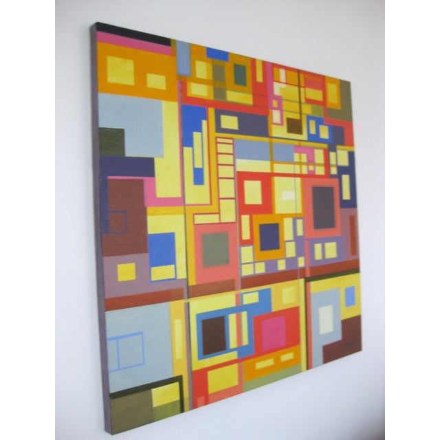 """""""Homage to the Squares"""" Original Oil Painting - Image 4 of 4"""