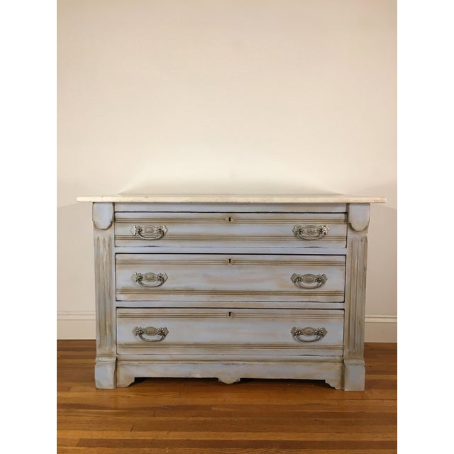 Baby Blue Marble Top Dresser - Image 2 of 6