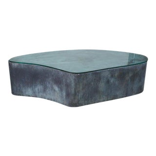 Abstract Custom Handcrafted Brutalist Coffee Table For Sale