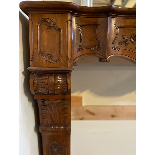 Late 19th Century Antique Wood Mantel For Sale - Image 5 of 7