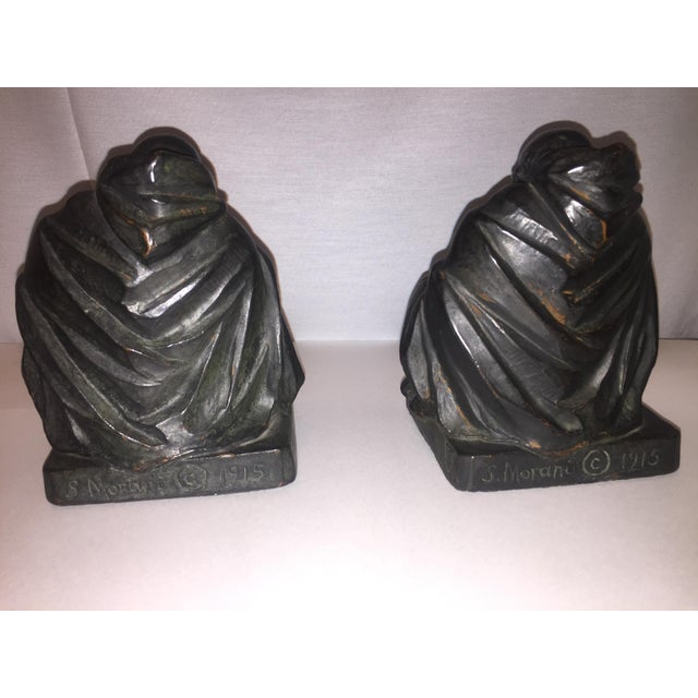 1915 S. Morani Armor Bronze Bookends - a Pair - Image 4 of 10