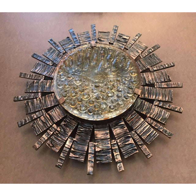 Mid-Century Modern Brutalist Sunburst Sconces / Flush Mounts (3 Available) For Sale In Palm Springs - Image 6 of 13