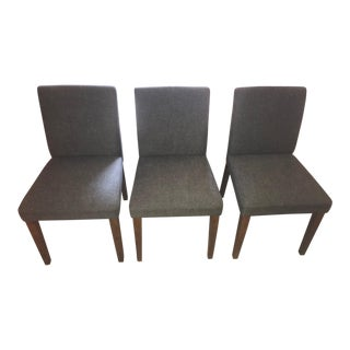 West Elm Tweed Porter Chairs - Set of 3