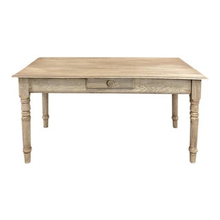 Rustic Whitewashed Writing Table ~ Breakfast Table For Sale