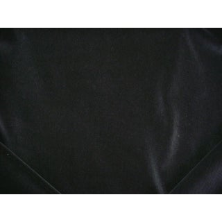 Traditional Holly Hunt Zeus Pitch Blue Faux Wool Trevira Velvet Upholstery Fabric - 8-1/8 For Sale