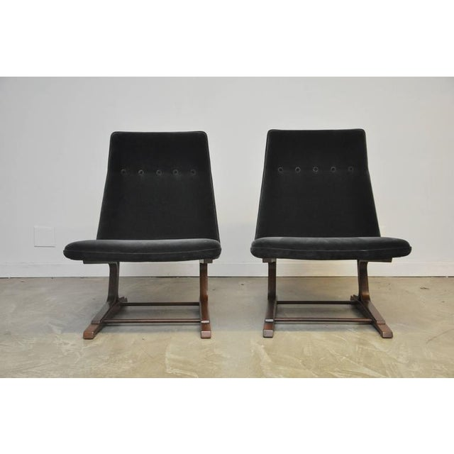 Mid-Century Modern 1960s Roger Sprunger for Dunbar Cantilever Lounge Chair For Sale - Image 3 of 9