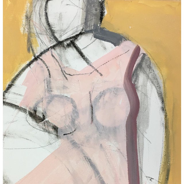 This piece is from a series of works exploring the beauty and portrait of a woman.