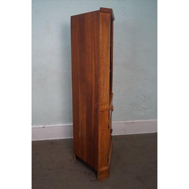 Brandt Ranch Oak Rustic Corner Cabinet - Image 3 of 10