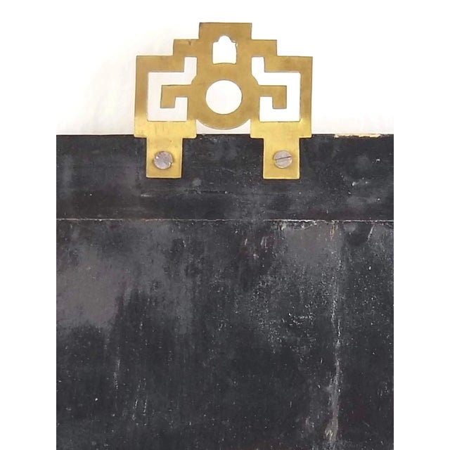 Vintage Japanese Black Lacquered Mother of Pearl, Bone Wall Panel For Sale In San Francisco - Image 6 of 10