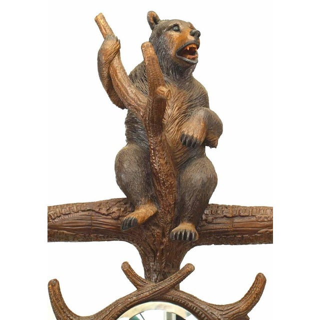 Mid 19th Century Rustic Black Forest '19th Century' Walnut Hat Rack or Umbrella Stand For Sale - Image 5 of 12