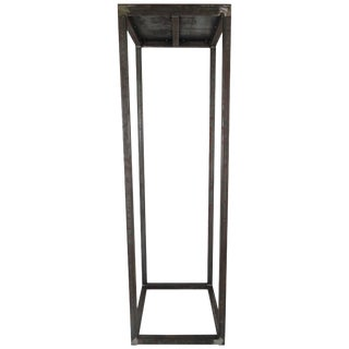 Modern Custom Natural Finish Metal Pedestal For Sale