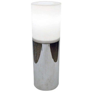 Mid-century Lucite and Chrome Cylindrical Lamp by Sonneman, Usa, 1970s For Sale