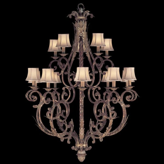 Fine Art Lamps Stile Bellagio Tortoised Crackle Finish 15-Light Chandelier - Image 4 of 5