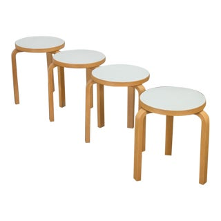 1990s Alvar Aalto Model 60 Stools - Set of 4 For Sale