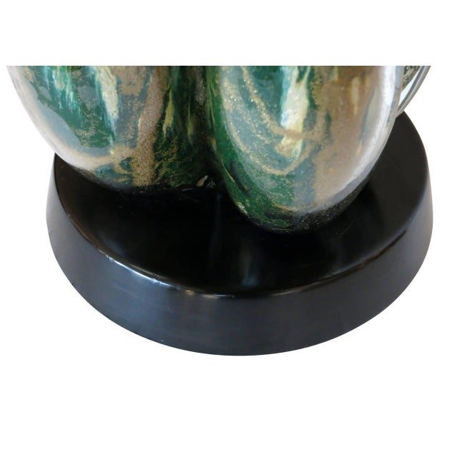 Mid-Century Murano Glass Table Lamp with Wood Base, circa 1950 - Image 9 of 9
