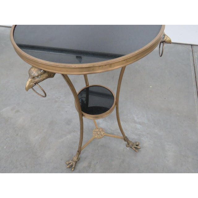 Early 20th Century Regency Style Granite Top Gueridon For Sale - Image 5 of 11