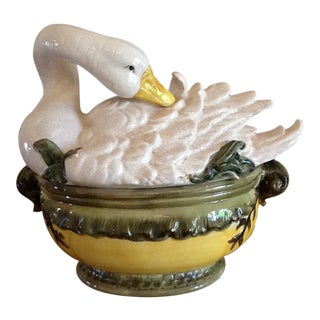 Kaldun & Bogle Swan Soup Tureen For Sale
