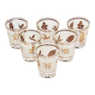 Midcentury Modern Libbey Shot Glasses, Set of 6 For Sale