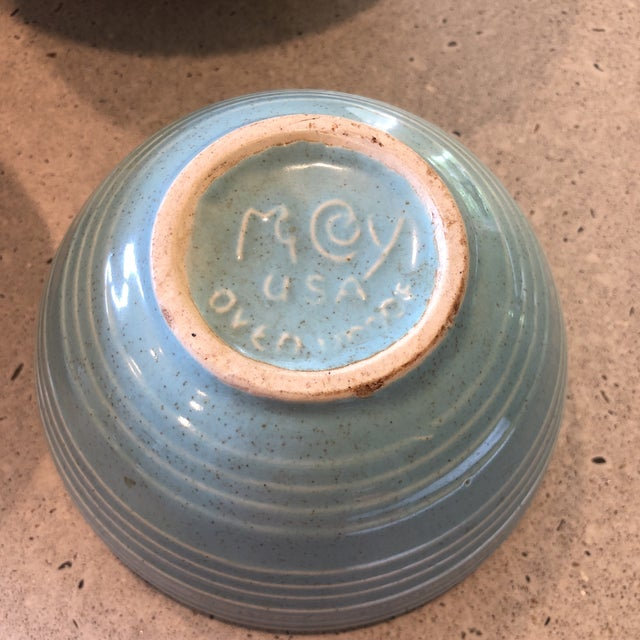 Mid-Century Modern 1958 McCoy Pottery Nesting Mixing Bowls - Set of 4 For Sale - Image 3 of 8