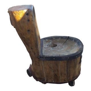 Hand Made Jack Pine Stump Chair