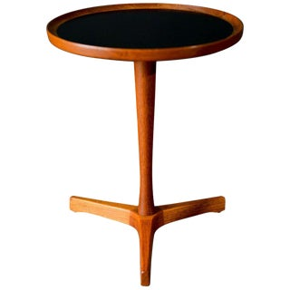 1960s Scandinavian Modern Hans Andersen Teak Tripod Side Table For Sale