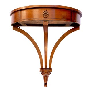 Vintage Antique Art Nouveau Mahogany Demi-Lune Wall-Mounted Console Table For Sale