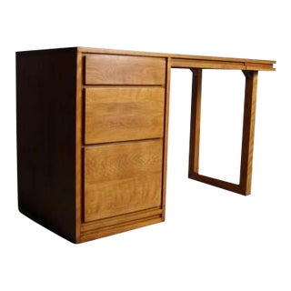 Russel Wright for Conant Ball Mid-Century Modern Birch Desk For Sale