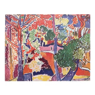 "Andre Derain Vintage 1948 Fauvism Limited Edition French Fine Art Lithograph Print "" Paysage "" 1907 For Sale"